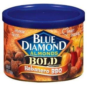 Blue Diamond Bold Habanero BBQ Almonds 6Oz (Pack Of 8)