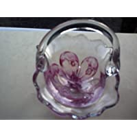 Blown Glass Mini Basket