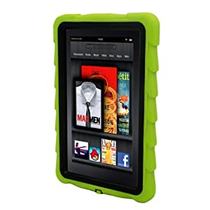 Gumdrop Cases Drop Tech Series Protective Case Cover for Kindle Fire, Green - With Screen Protection (does not fit Kindle Fire HD)