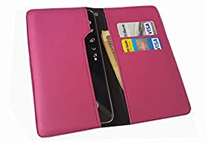 nKarta ™ OD Pink Flip Flap Wallet Pouch Mobile Cover Case with Card holder Slots for Microsoft Lumia 640 XL LTE