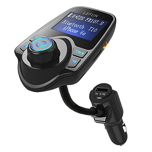 LeFun Bluetooth FM Transmitter, Car Radio Adapter Kit and FM Modulator with USB Charger AUX Input Bluetooth Receiver Tf Slot for Iphone Android (Fm Modulator Aux Input compare prices)