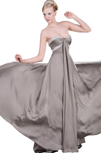 eDressit Silver Party Ball Dress Evening Gown (00107326) SZ 8