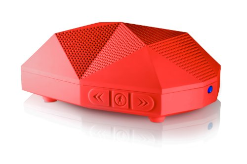 Outdoor Tech Ot-1800 Turtle Shell 2.0 Rugged Water-Resistant Wireless Bluetooth Hi-Fi Speaker (Red)