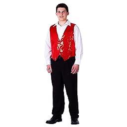 Adult Red Sequin Vest - Size Medium