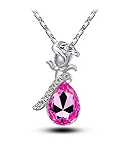 Celebrity Jewellery Swarovski Elements Glass Crystal Water Drop Shaped Pendant Necklace for Women