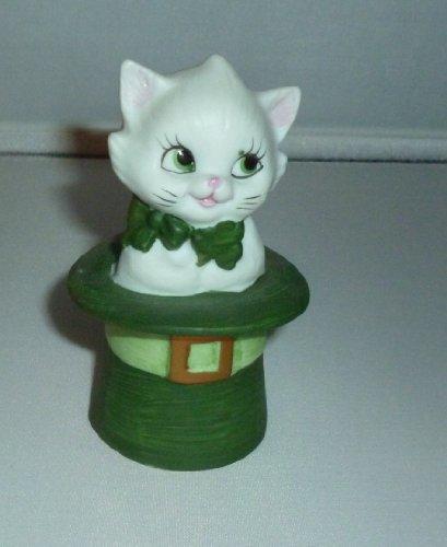 Lefton China St. Patricks Day Cat Figurine