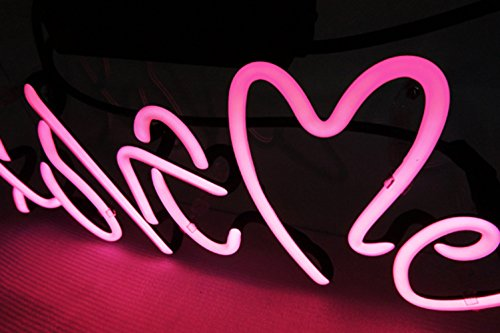 Love Me Neon Light Sign Real Glass Home Bedroom Beer Bar Pub Recreation Room Game Room Windows Garage Wall Sign 3