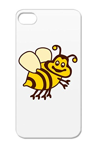 Anti-Scuff Tpu Yellow Cover Case For Iphone 4 Insect Wings Bumblebee Child Baby Hony Fly Funny Flies Cartoons Honey Cartoon Wing Bee Stripe Bumble Miscellaneous Stripes Bumblebee front-549166