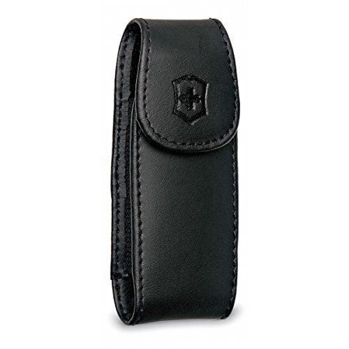 Victorinox Large Pocket Knife Clip Pouch, Leather Black (Pocket Clips For Knives compare prices)