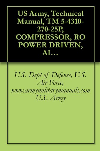 US Army, Technical Manual, TM 5-4310-270-25P, COMPRESSOR, RO POWER DRIVEN, AIR, TWO IMPELLERS, WHEELBARROW FRAME MTD, TWO PN TIRES, GASOLINE ENGINE, 60 ... military manauals, special forces