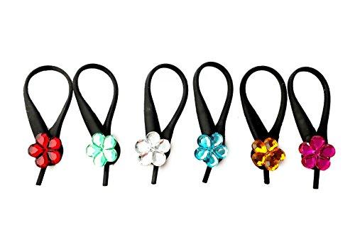 AVIRGO 6 pcs Soft Zipper Pull Charms for Backpack Bag Pendant Jacket Set # 28-3