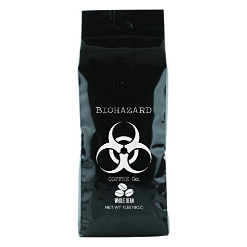 Biohazard Whole Bean Coffee, The World's Strongest Coffee (16 Ounce) (Half The Caf Keurig Cups compare prices)