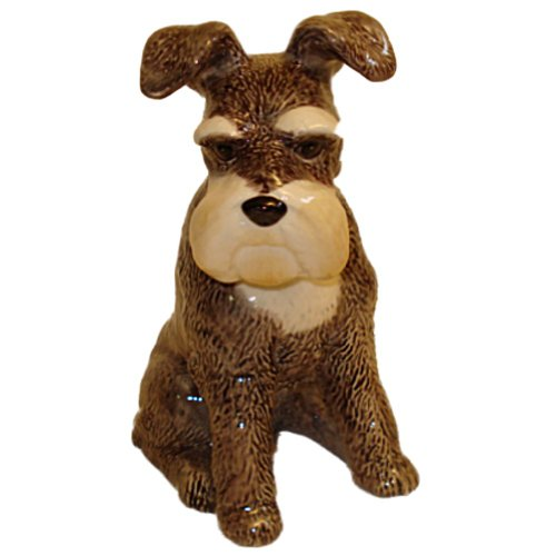 Hand Painted Ceramic Schnauzer Bank
