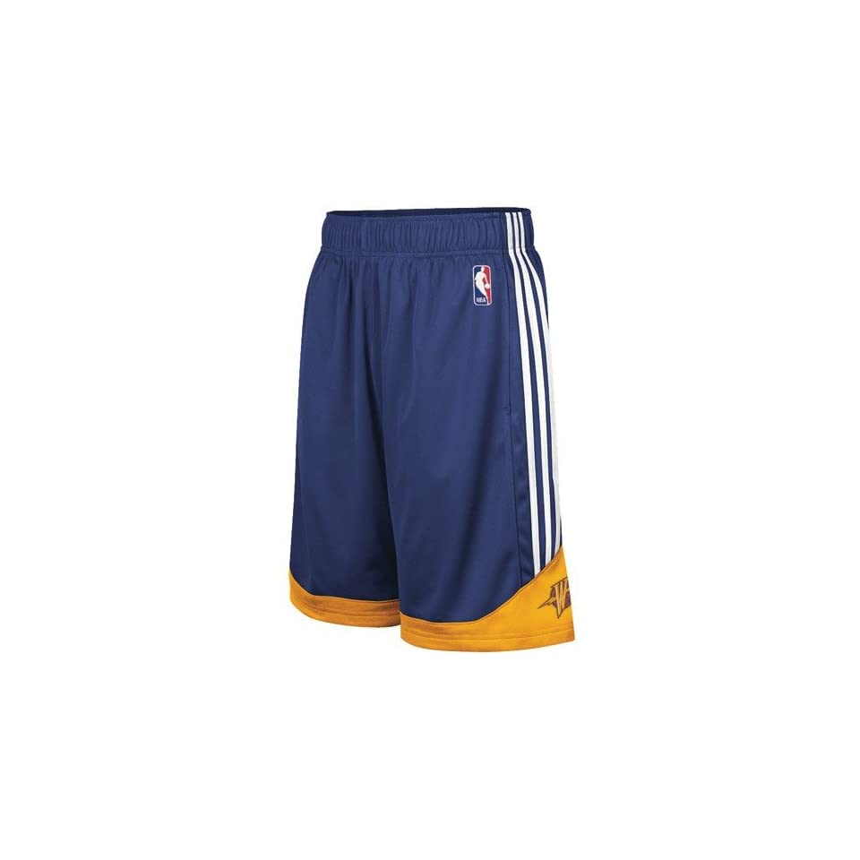 adidas Golden State Warriors Youth Navy Blue Pre Game Mesh Basketball Shorts 7f1dbb98f