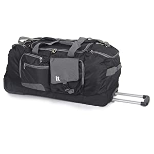 It Luggage Black Wheeled Holdall - 10 Year Guarantee