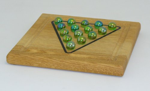Picture of Fun Pyramid Solitaire Wood Puzzle (B0047E5E1U) (Pegged Puzzles)