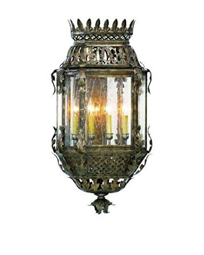 Corbett Lighting Montrachet 4-Light Wall Lantern, Bronze/Clear