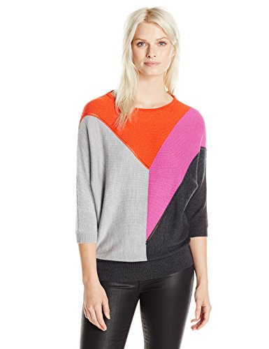 Trina Turk Women's Shelby Colorblock Sweater, Pop Art, Small