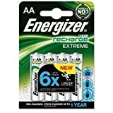 Energizer Battery R echargeable Advanced NiMH Capacity 2300mAh LR06 1.2V AA Ref 625997 [Pack 4]by Energizer