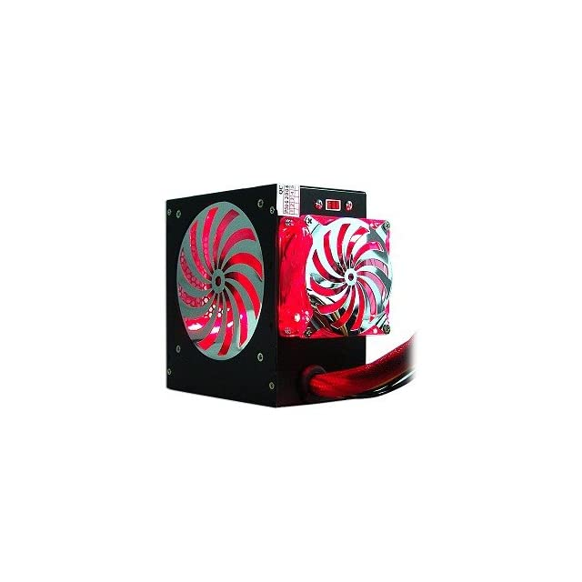 580 Watt 20+4 pin Dual Fan ATX Power Supply with SATA & Red LEDs (Black)