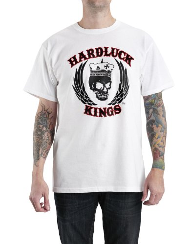 HardLuck Kings TWTBLK1-XXL Mens Hard Six Short Sleeve Tee
