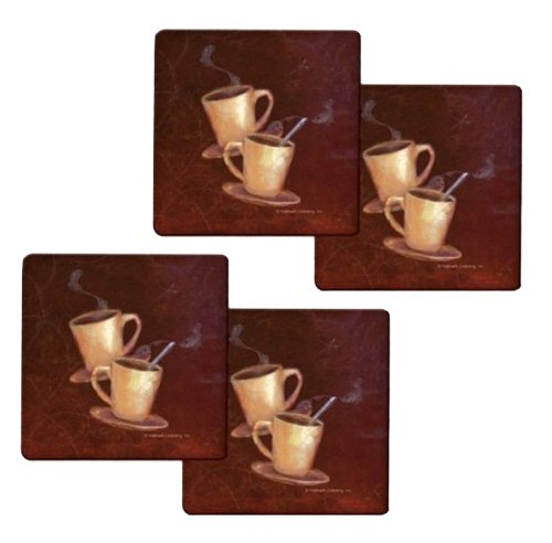 Buy Discount Range Kleen HP77AS Hallmark Coffee Design Trivets from Range Kleen, 7 by 7-Inch, Set of...