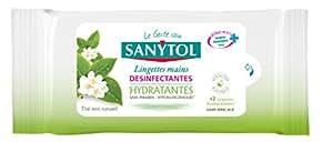 Sanytol - 33650500 - Lingettes Dsinfectantes Mains Objets Surfaces x 12 - Lot de 4