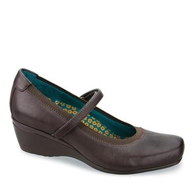 Aetrex Women's Gloria Mary Jane Diabetic Shoes,Chestnut Leather,7 M US