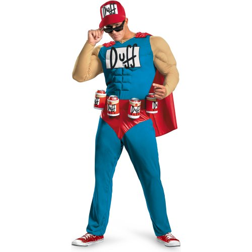 Disguise Men's The Simpsons - Duffman Classic Muscle Adult Costume