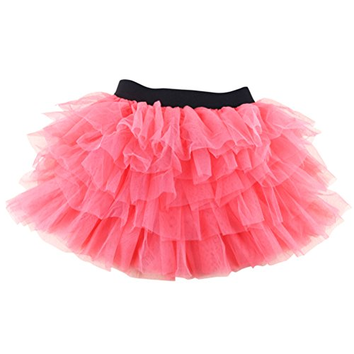[Wennikids Baby Girls Dance Tutu Skirt for Dress Up & Fairy Costumes XX-Large Watermelon Red] (Watermelon Toddler Costume)