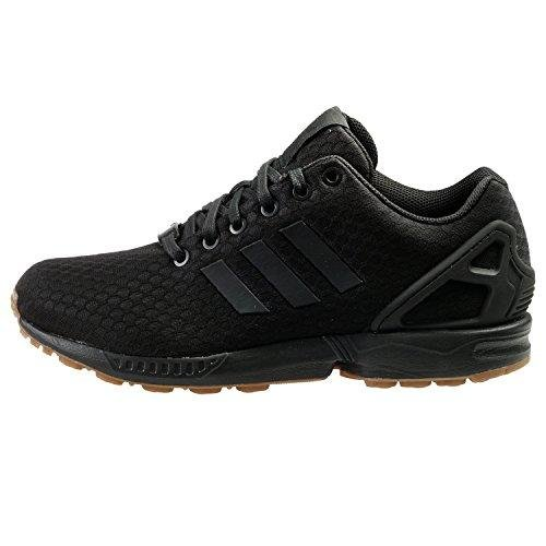 Adidas Originals Men's ZX Flux Fashion Sneaker, Black/Black/Gum, 11 M US