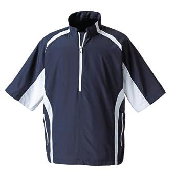 Foot Joy Mens Short Sleeve Sport Windshirt, Navy White, XXLarge by Foot Joy
