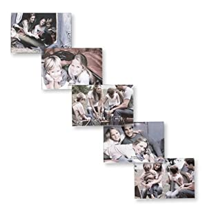 Melannco Clear Collage Step Frame, Holds five 6-Inch x 4-Inch Photos
