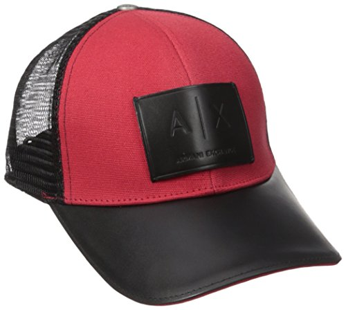 Armani Exchange Men's Logo Patch Mesh Baseball Hat, Absolute Red, One Size (Armani Cap compare prices)