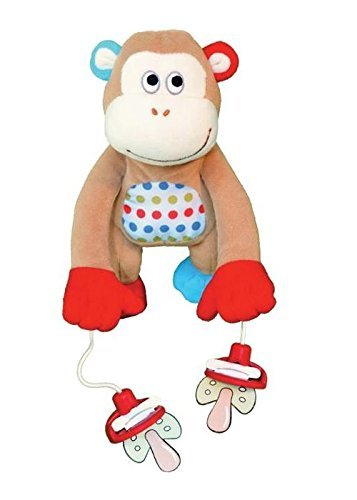 "The Original PullyPalz Pacifier Holder ""As Seen on Shark Tank!"" MoMo the Monkey"