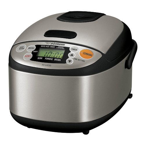 Zojirushi NS-LAC05XT Micom 3-Cup Rice Cooker and Warmer, Black and Stainless Steel Discount