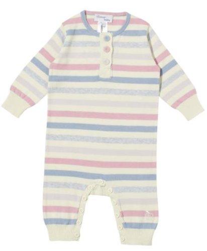 Bonnie Baby Rio Fine Knit Playsuit - Creme & Pastel Stripe