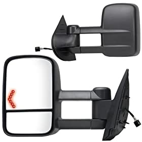 Fit System 62093-94G Chevrolet/GMC/Cadillac Driver/Passenger Side Replacement Towing Mirror Set with Turn Signal and Dual Glass