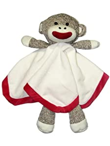 Sock Monkey Snuggle Buddy Rattle by Baby Starters
