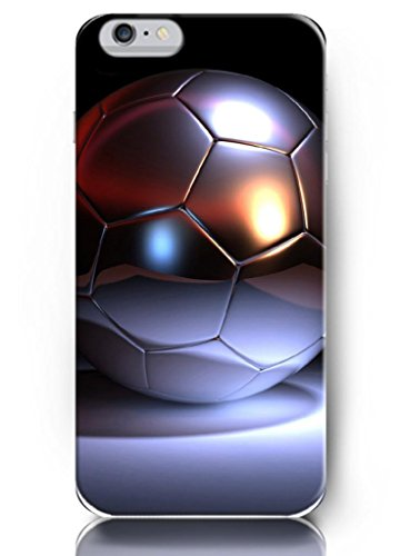 Ouo Classic 5.5 Inch Iphone 6 Plus Case With The Design Of Silver Texture Soccer Ball