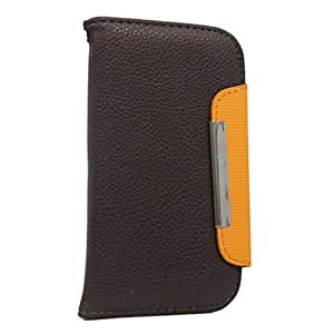Jo Jo Z Series Magnetic High Quality Universal Phone Flip Case Cover Stand For Acer Allegro Brown Orange