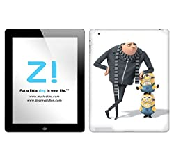 Zing Revolution Despicable Me 2 - Leaning Tablet Cover Skin for iPad 2 (Wi-Fi/Wi-Fi + 3G) (MS-DMT280250)