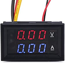DROKreg Small Digital Amperemeter Voltmeter Multimeter 028quot DC 100V 10A Car Voltage Ampere Meter