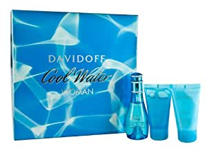 Davidoff Coolwater Eau De Toilette Gift Set for Women 50ml