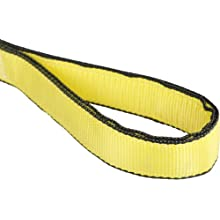 Mazzella EE2 Edgeguard Nylon Web Sling, Eye-and-Eye, Yellow, 2 Ply, Flat Eyes, Vertical Load Capacity