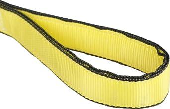 Mazzella EE2 Edgeguard Nylon Web Sling, Eye-and-Eye, Yellow, 2 Ply, Flat Eyes, Vertical Load Capacity