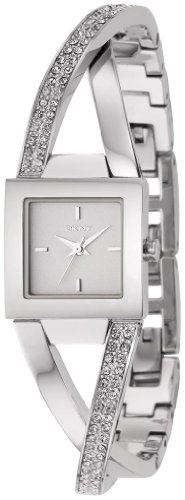 DKNY Crystal Crossover Bracelet White Dial Women's Watch #NY4814