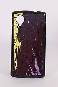 Fuson PVC-2D Metallic color Printed Designer Back Case Cover for LG Nexus 5 - RD1063