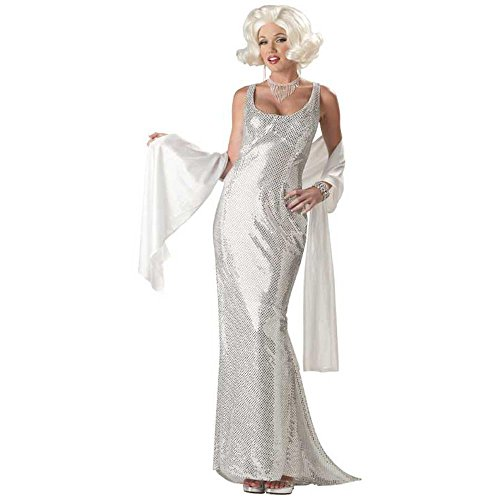Adult Platinum Marilyn Costume (Size: Small 6-8)