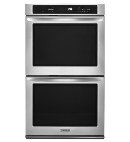 """30"""" Double Electric Wall Oven with 5.0 cu. ft. Capacity, True Convection, Hidden Element, Self-Cleaning, Halogen Lighting and Gl"""